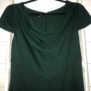 Bebe Emerald green scoop neck dress